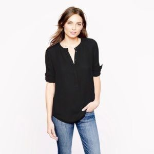 J. Crew top small black long sleeve crepe tunic